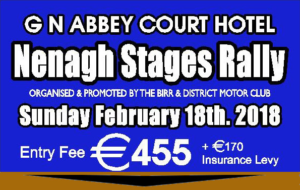 Birr Stages Rally 2018 Flyer