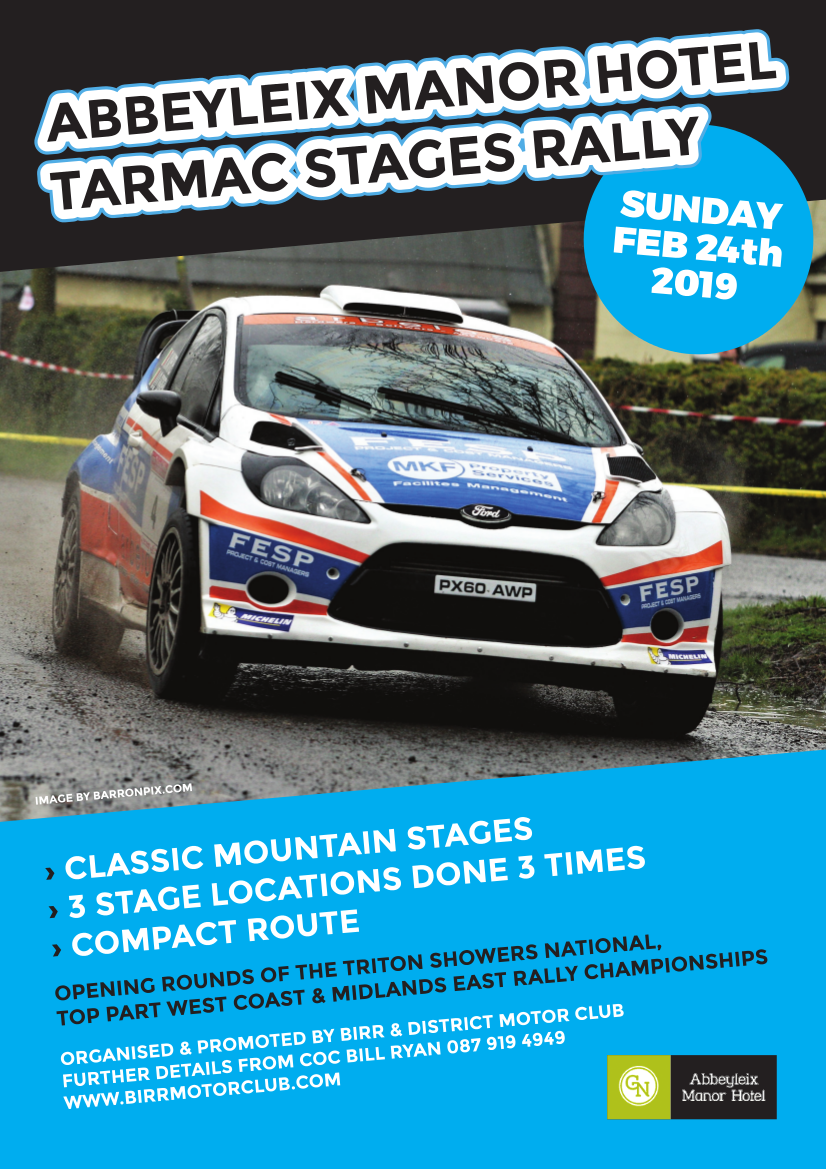 Birr Stages Rally 2019 Flyer